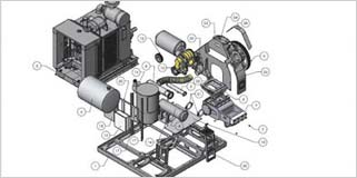 Fabrication Drawings for Water Blasting System