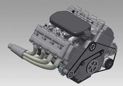 3D CAD Model of Engine