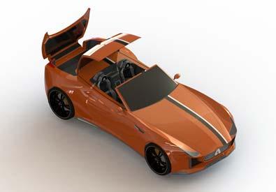 3D Rending of Car