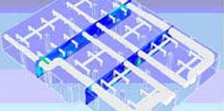 Flow Behavior Inside Building HVAC Application