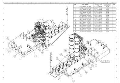 CAD Drafting of Water Treatment Plant