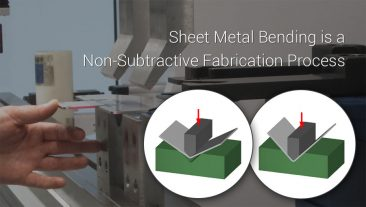 Sheet Metal Bending is a Non-Subtractive Fabrication Process