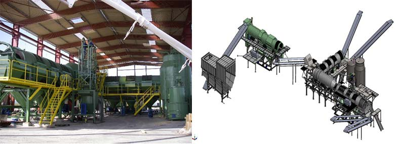 3D CAD model developed in SolidWorks by reverse engineering the entire plant