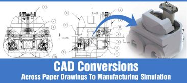 CAD Conversions; Across Paper Drawings to Manufacturing Simulation