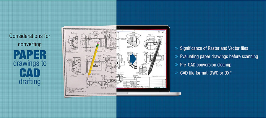 convert paper drawings to CAD